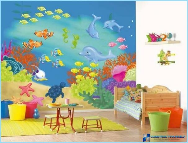 Murale nel interno per la camera di un bambino