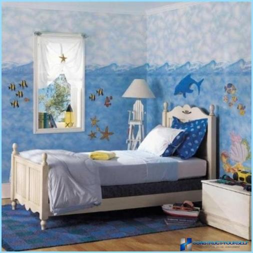 Mural in the interior for a child's room