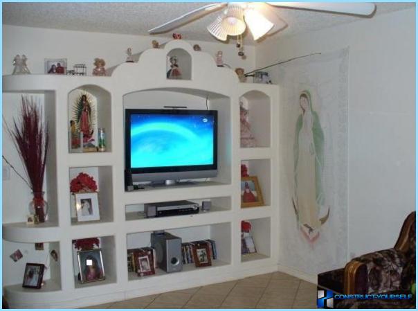 полки вокруг телевизора своими руками