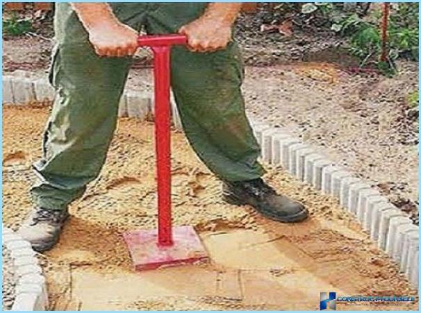 Как утрамбовать песок
