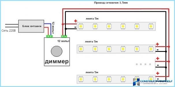 Schema Elettrico Dimmer Per Led 220v : Cablaggio con dimmer e invece