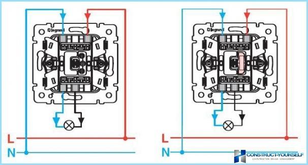 Viko схемы подключения проходного выключателя5