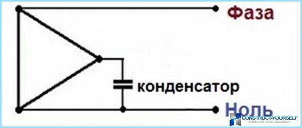 Схема подключения эл.двигателя 380 на 220 без конденсаторов