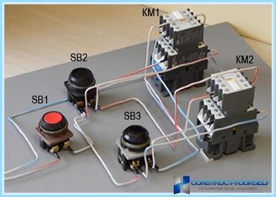 Как собрать реверсивную схему магнитного пускателя