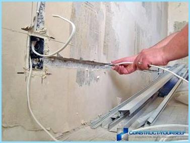 Izkārtojums elektroinstalācijas vannas istabā