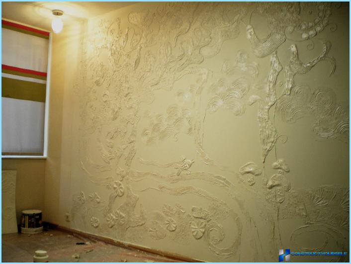 Декоративное покрытия стен своими руками 61