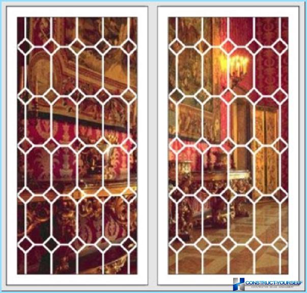 Окна со встроенными решетками
