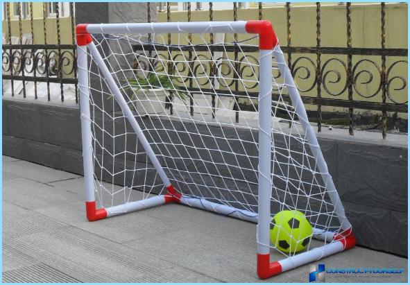 Детские футбольные ворота из пластиковых труб своими руками