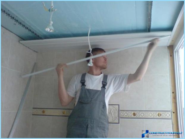 Подвесной потолок пвх в ванной видео