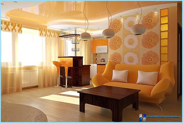 Küche kombiniert mit Wohnzimmer