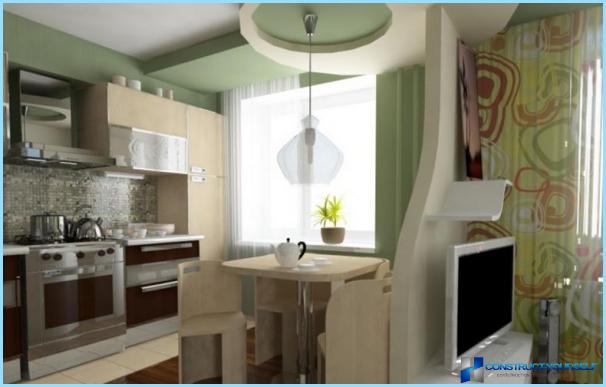 Кухня, поєднана з вітальнею