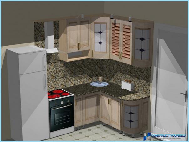 Угловая кухня для малогабаритной кухни своими руками 26
