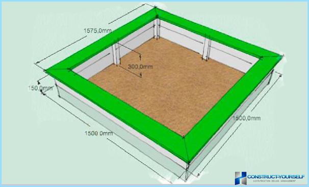 Песочница схема с размерами