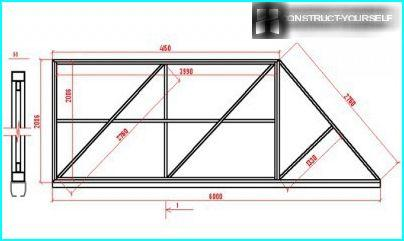 Driving frame metal sliding gates