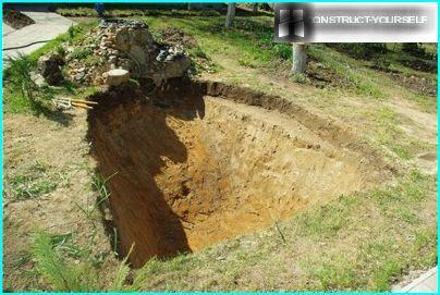 Graben eine Grube Teich