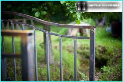 End handrails were sawn