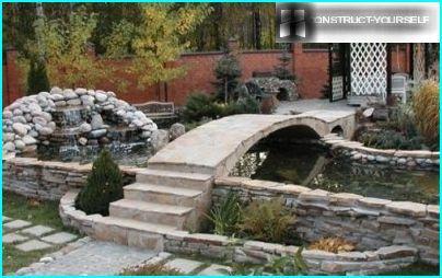 Die Brücken Im Garten Mit Seinen Eigenen Händen Wie Eine Hölzerne