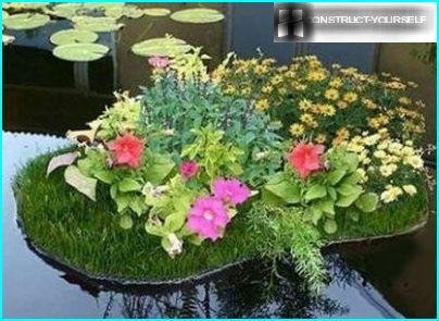 Flowerbed island