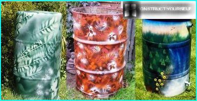 Floral decoration barrel