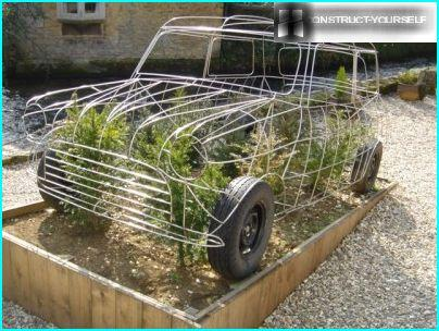 Topiary Frame retro cars