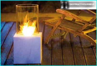 Floor biofireplaces option