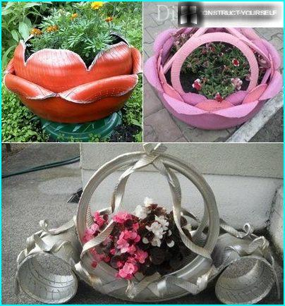 Options vases of tires