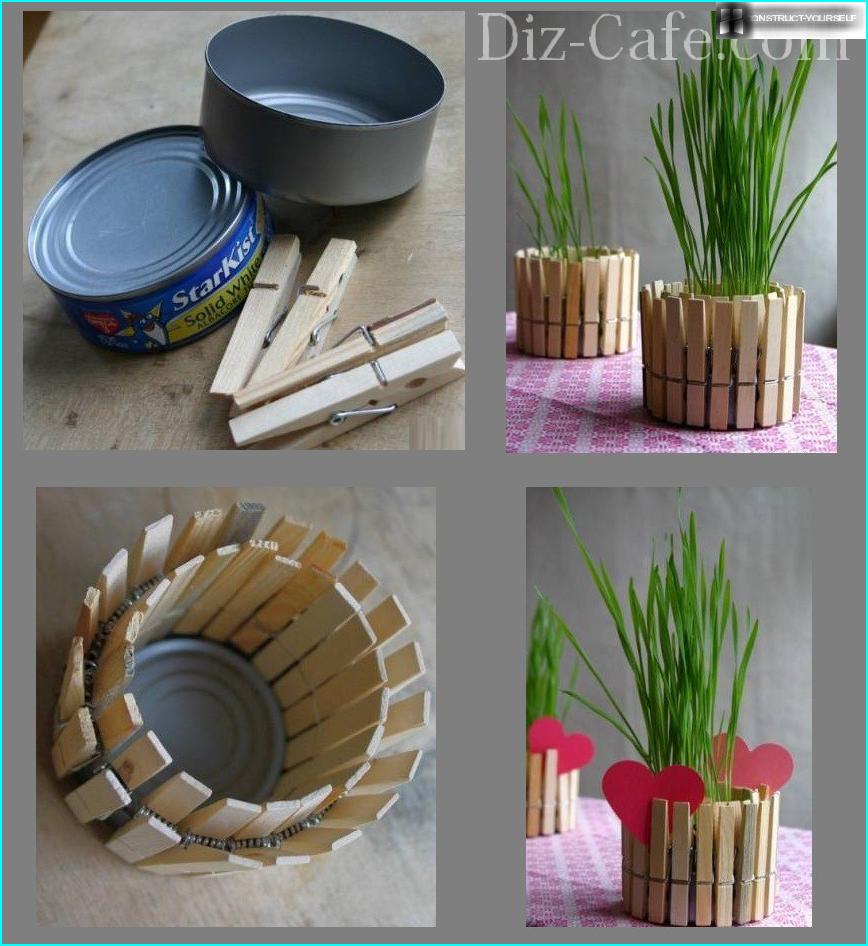Как украсить пластиковый горшок 73