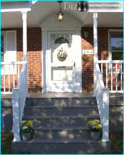 The design of the classic version of the porch
