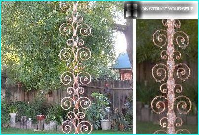 Rain chain of forged elements