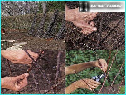 Costruzione di un semplice traliccio di ramoscelli