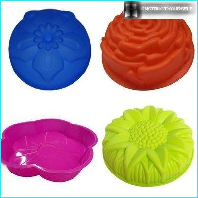 A variety of silicone molds