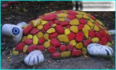 The turtle of sea pebbles