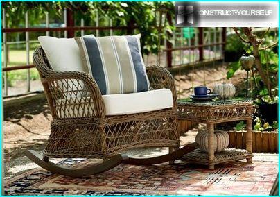 Wicker furniture in interior design