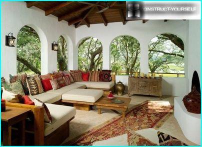 Veranda in oriental style