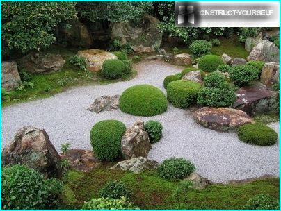 Stacking of gravel - an alternative to a lawn