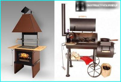 Metal built-in barbecue