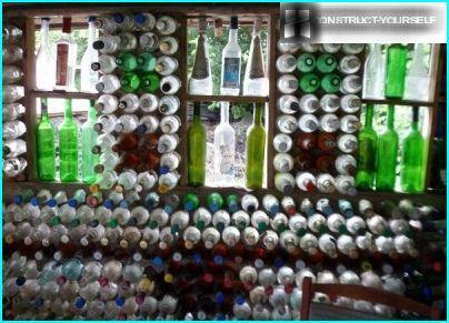 Masonry of bottles for gazebo