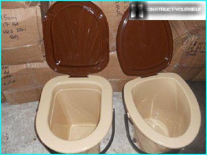 A bucket-toilet