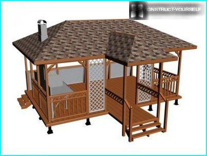 Gazebo with barbecue