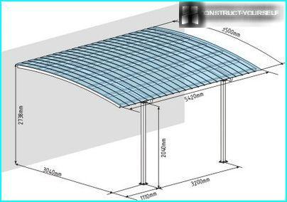 Plan of arrangement of single canopy