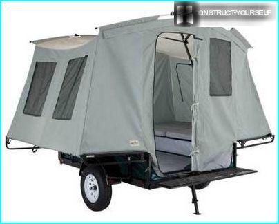 Trailer tent inside