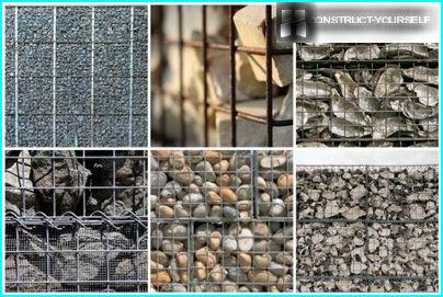 Stone fillers for gabions
