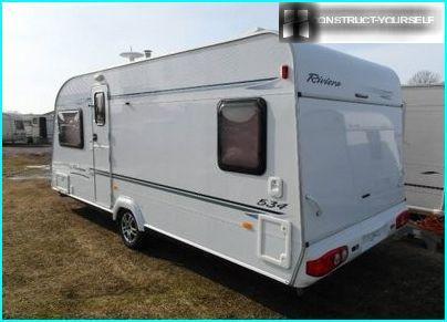 White trailer caravan