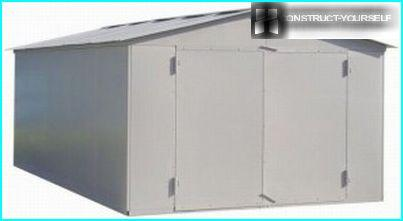 Prefabricated metal garage