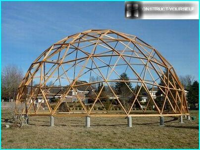 fondation Pile pour l'installation de grandes structures en forme de dôme