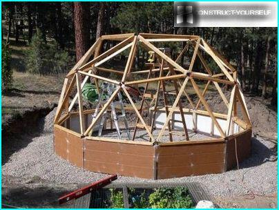 Frame polutorametrovoy hemisphere everything for greenhouses in the country