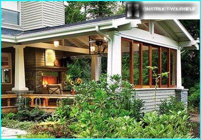Partial glazing verandas