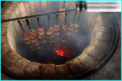 Skewers in tandoor