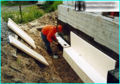 Thermal insulation polystyrene foundation