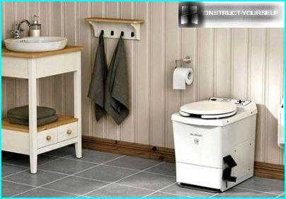 Modern portable toilets and washbasins